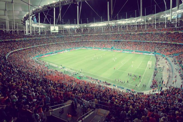ブラジルワールドカップ スペインvオランダ@サルバドール ARENA FONTE NOVA