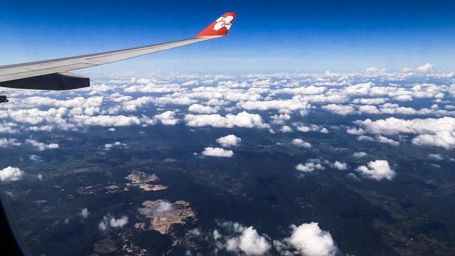 Air Asia X 東京-バンコク直行便にて