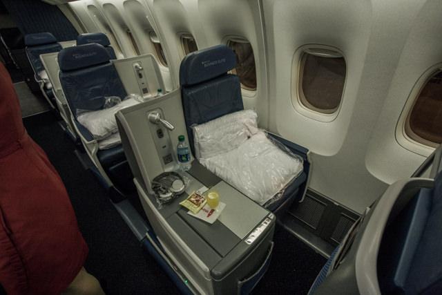 デルタ航空ビジネスクラスの座席