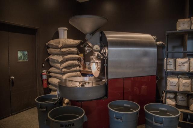 TOBY'S ESTATE COFFEEの焙煎機