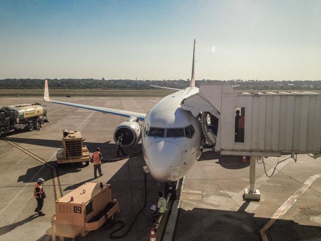 DELTA航空の飛行機