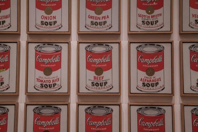 アンディウォーホルのキャンベルスープ