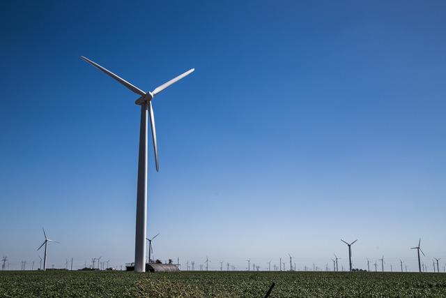 無数に立つ風力発電機