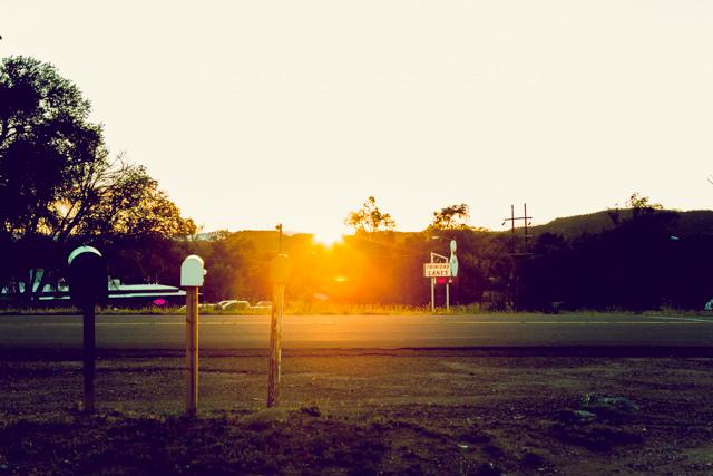 夕日を楽しんでいるとキャンプ場につく頃には夜