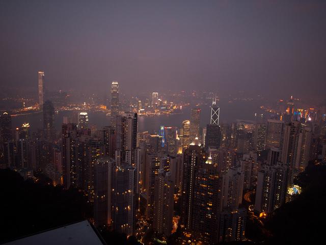 香港、ビクトリアピークから