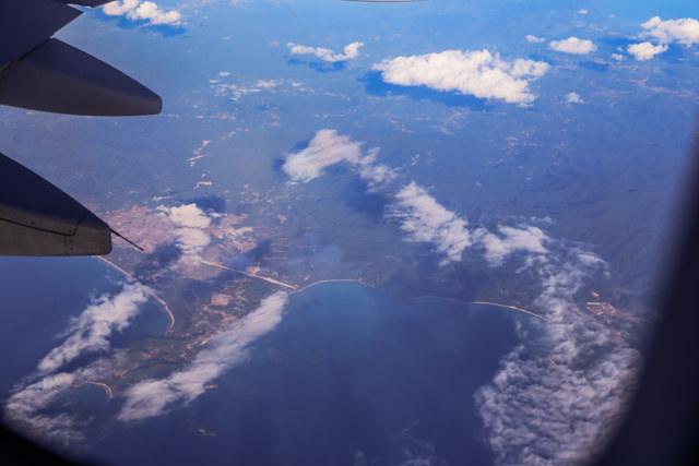 パラワン島を上空から