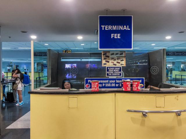 ターミナルフィーの支払いは現地で