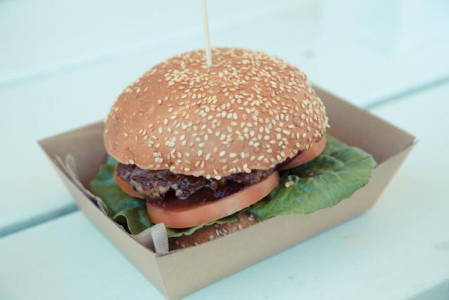 TOP SHOPのハンバーガー