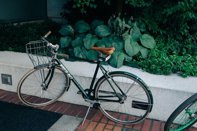 ロゴ入り自転車