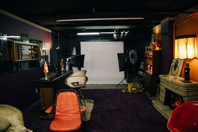 地下の撮影スペース