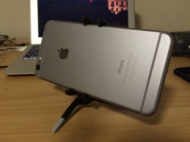 iPhone 6Plus + joby griptight micro stand
