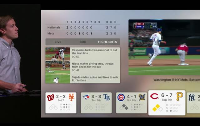 Apple TVの野球の画面これのサッカー版あったらいいなぁ