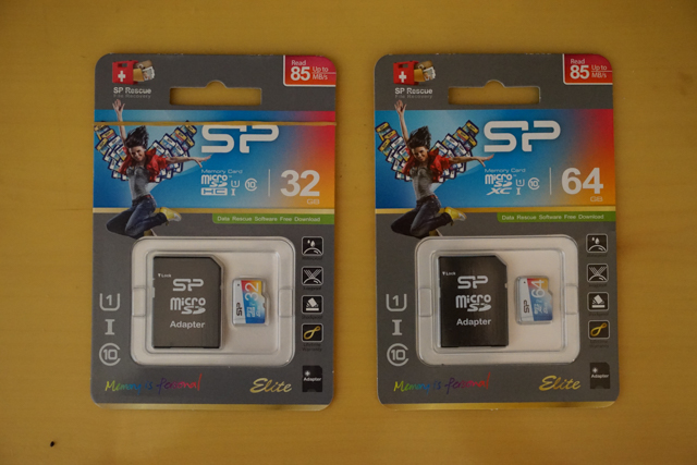 SP シリコンパワー Elite microSDXCカード 64gbと32gb