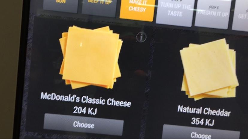 チーズの選択
