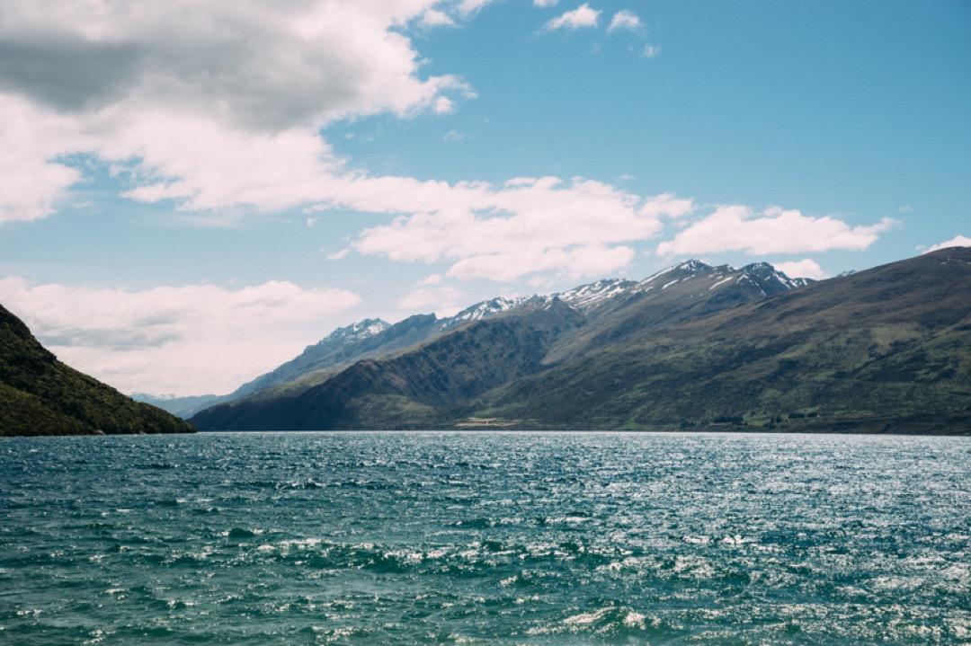 休憩した湖で