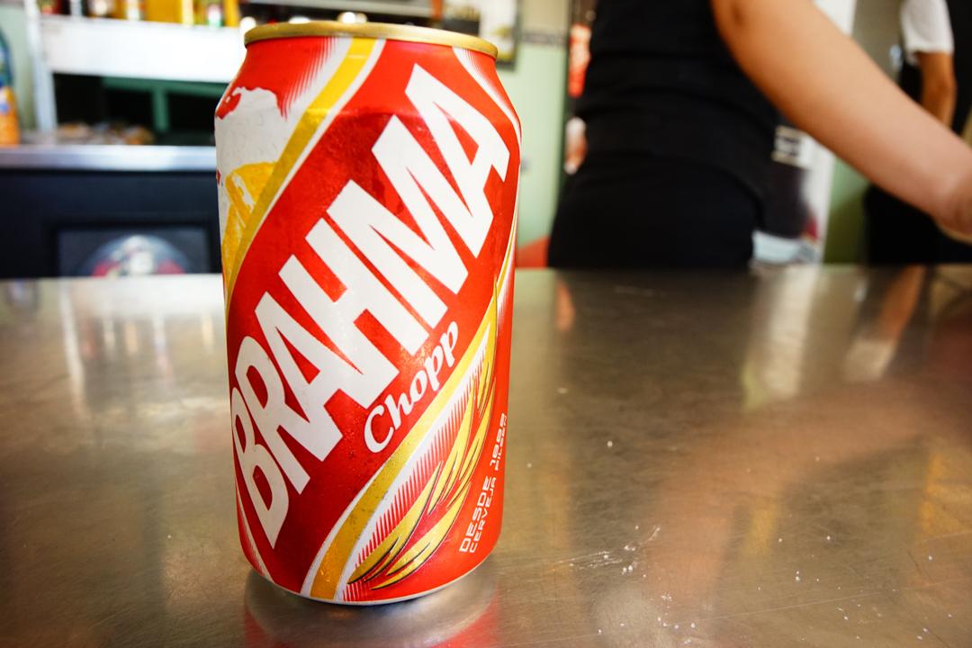 何故かブラジルのビールBRAHMAを見かけました。