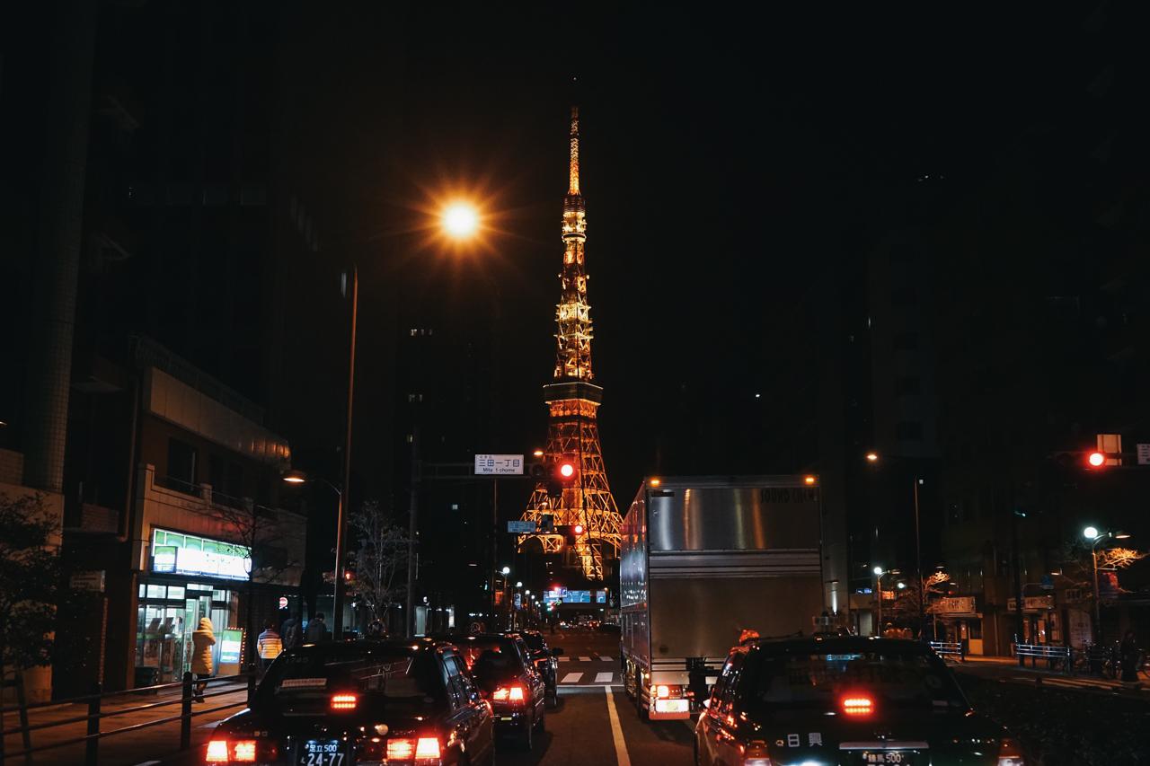 2017年、年を越してすぐ通りかかった東京タワー