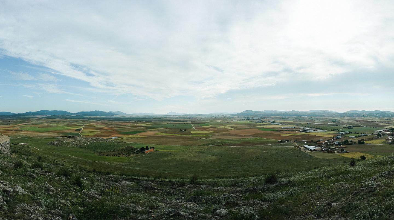 丘の上からの眺め。
