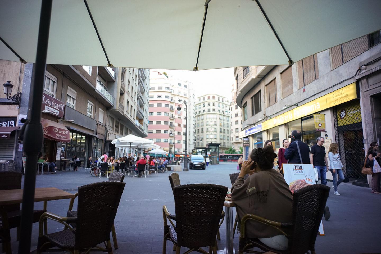 バレンシア市街で夕食