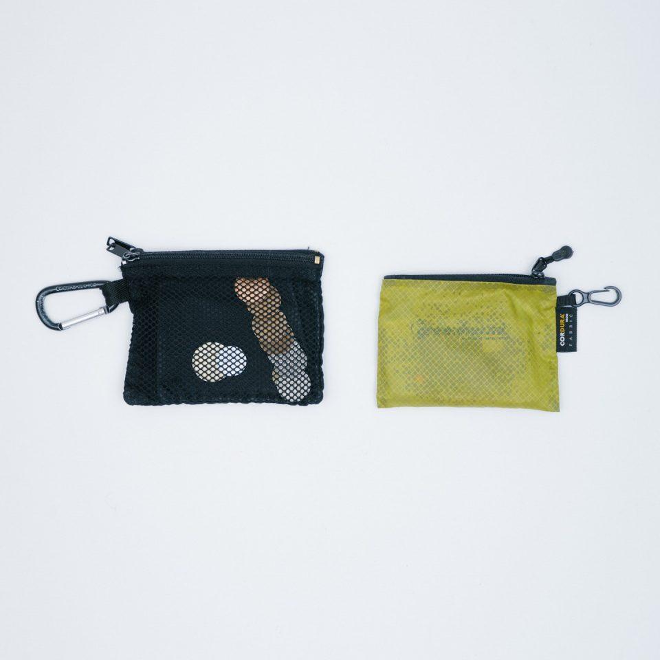 無印良品 パラグライダークロスダブルファスナーケース / greenharmit ポーチ