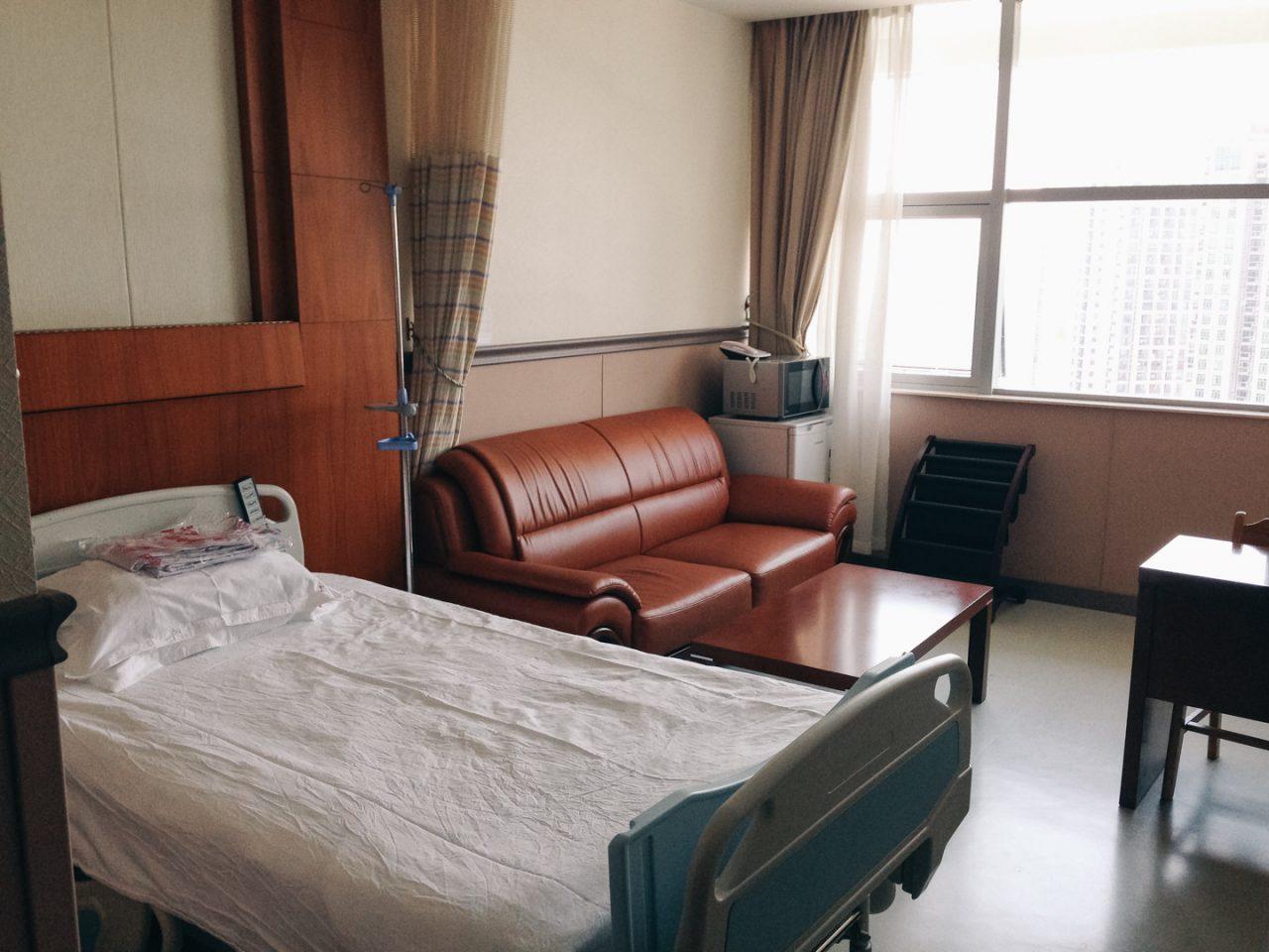入院していた中国広州の個室