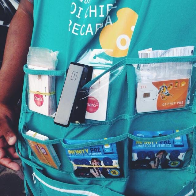 ブラジル SIMカード路上販売