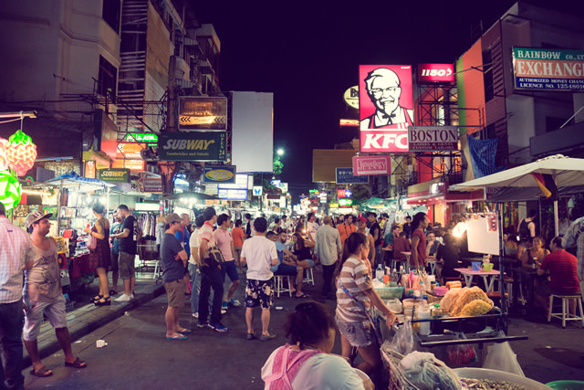 タイ、バンコク、カオサンロード