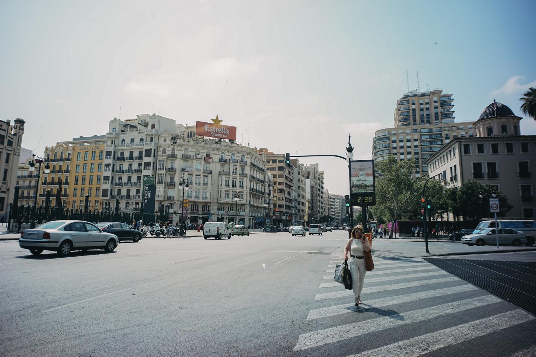 バレンシアの町中