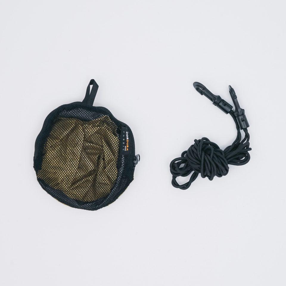 洗濯セット(SEA TO SUMMIT ウルトラSIL キッチンシンク、洗濯物用ゴム紐)